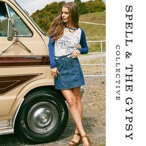 Spell Boulevard Denim Skirt